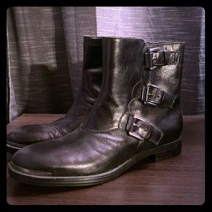 Black motorcycle boots. Size 7.5